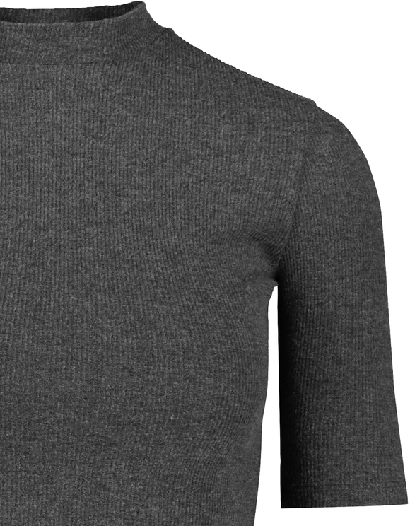 Grey Marl Soft Touch Ribbed Top
