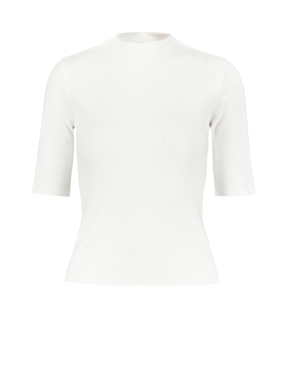 White Soft Touch Ribbed Top