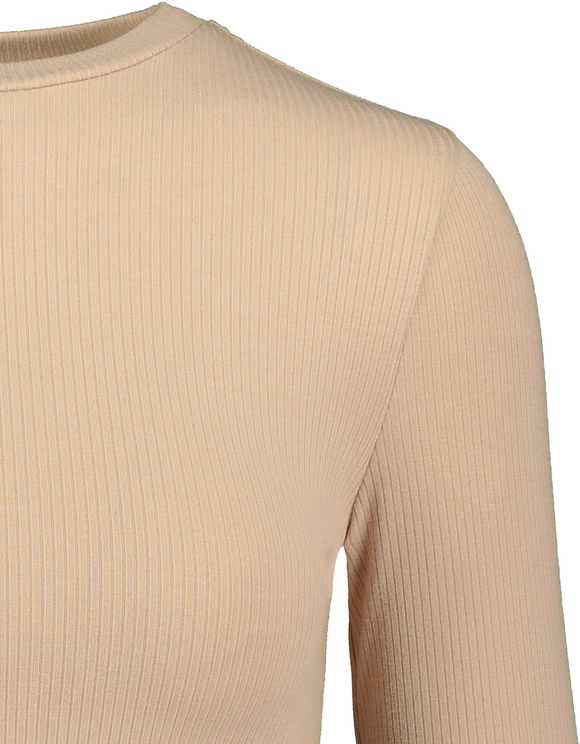 Beige Ribbed Top