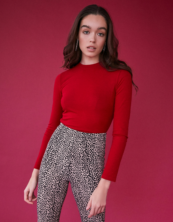 Red Top with Cut Outs