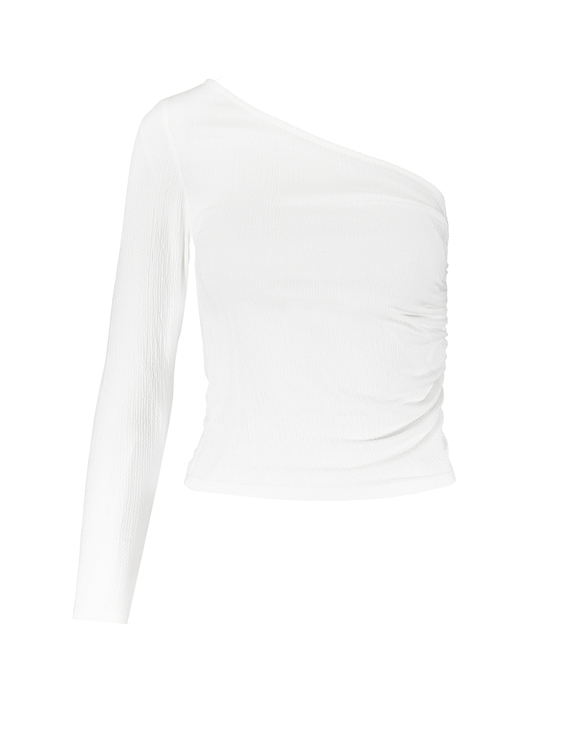 White One Sleeve Top