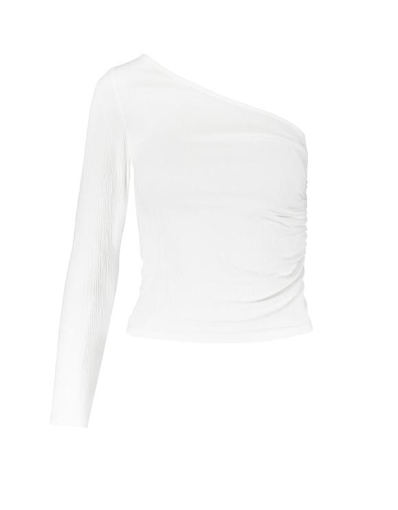 Top Blanc Une Épaule