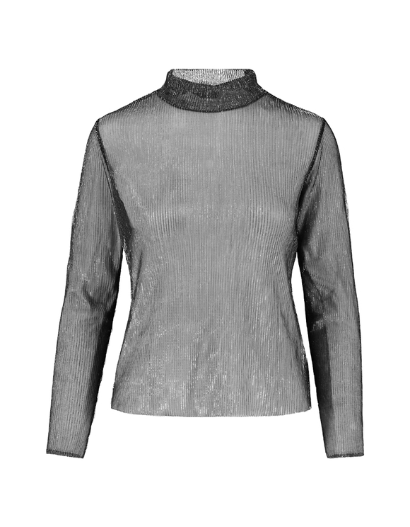 Silvery See-Through Top