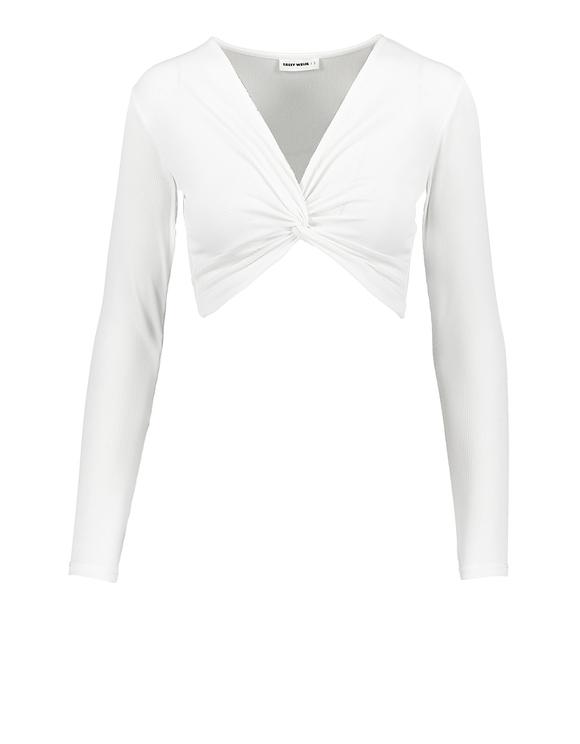 White Twist Crop Top
