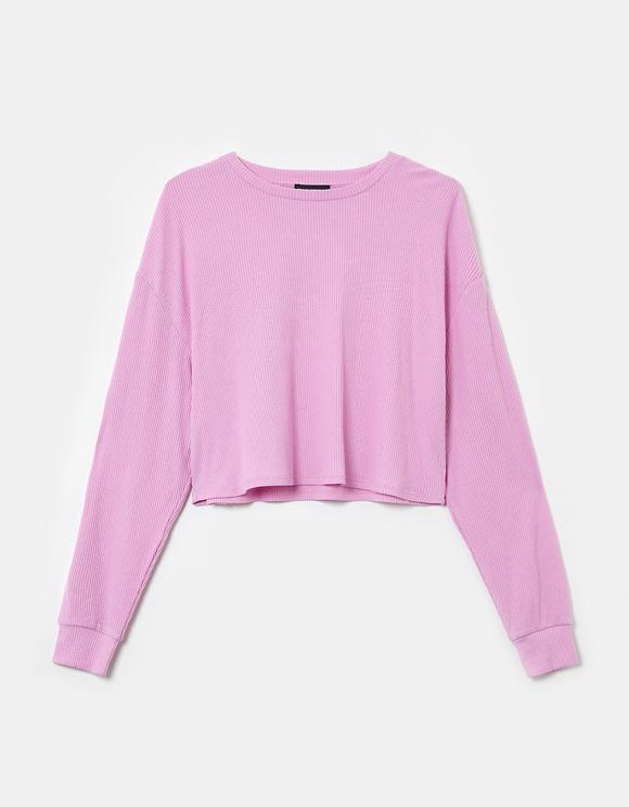 Pink Ribbed Top