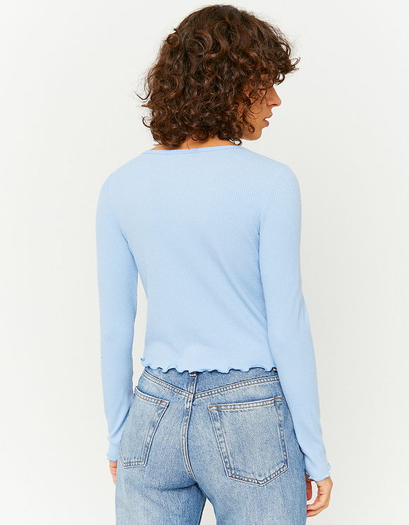 Blue Buttoned Top