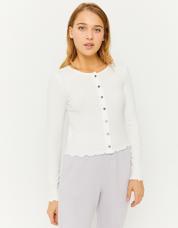 White Buttoned Top
