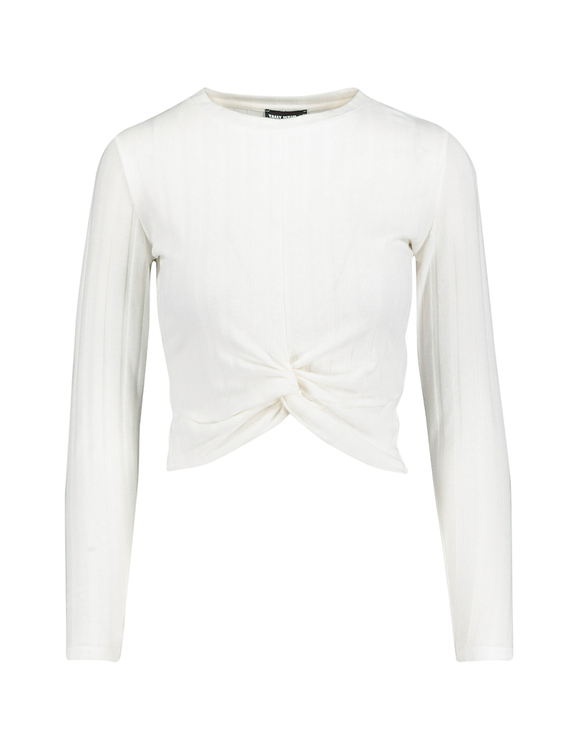 White Twisted Top