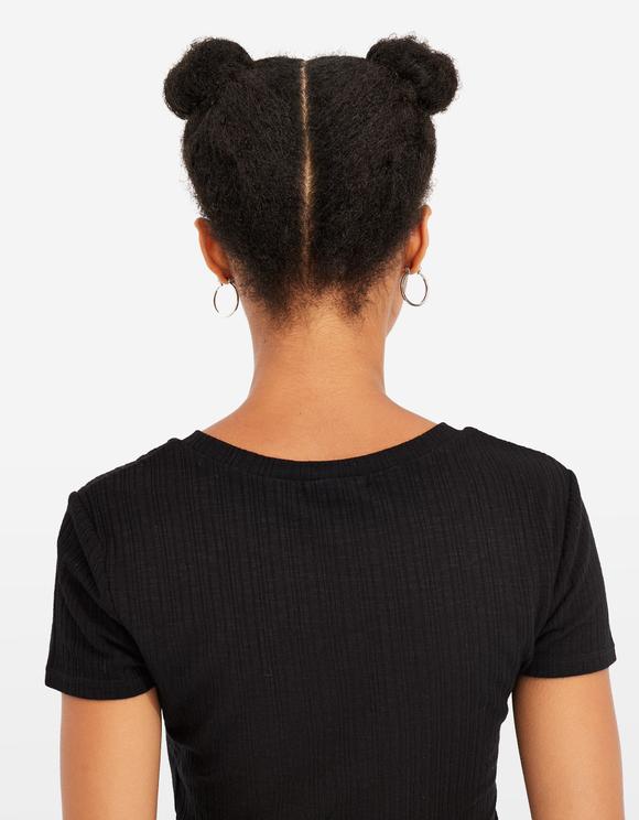 Crop Top Basique Noir