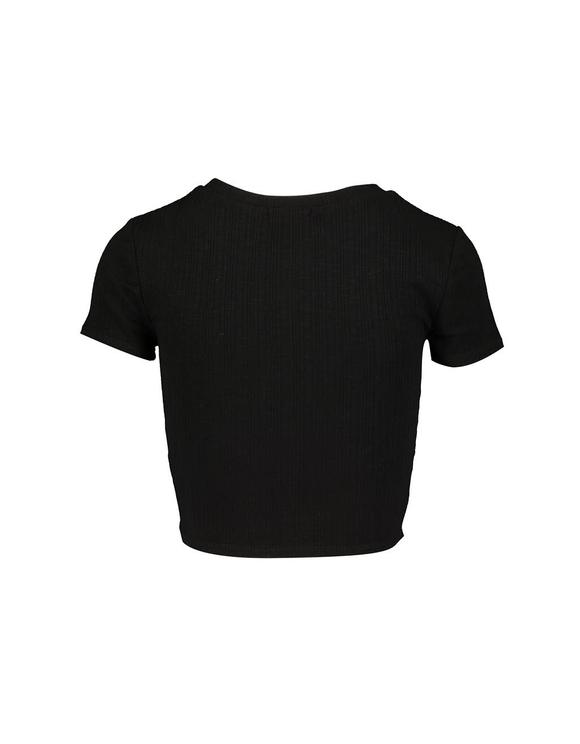 Black Basic Crop Top