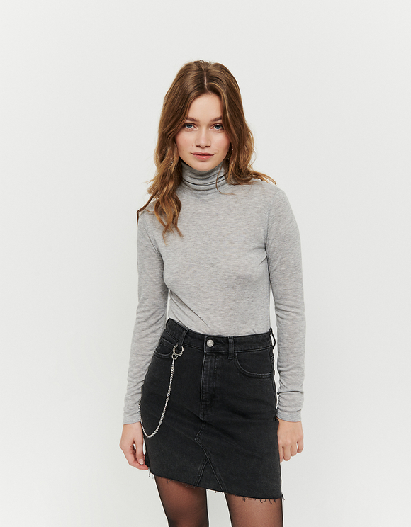 Light Grey Wool Top