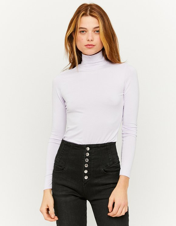Lilac High Neck Top