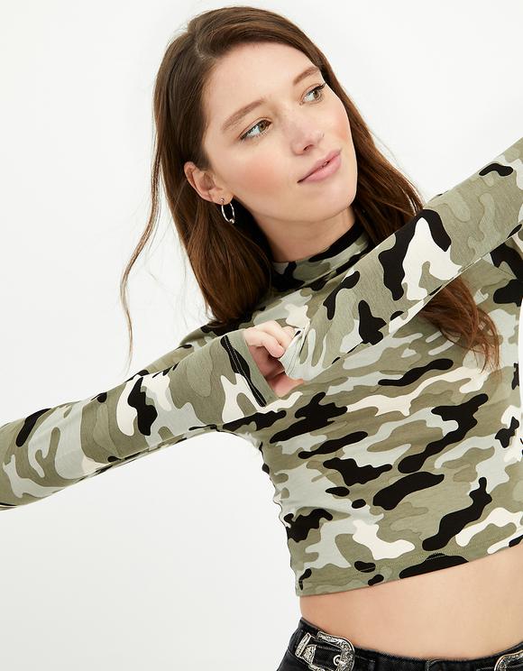 Crop Top Camouflage