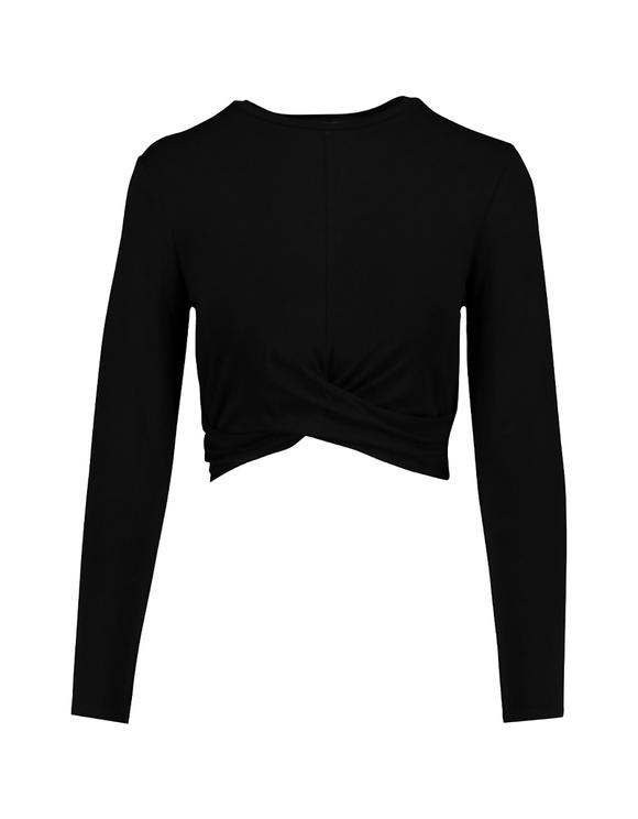 Black Twisted Crop Top