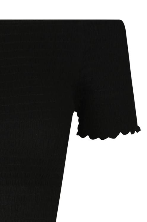 Black Crinkled Top