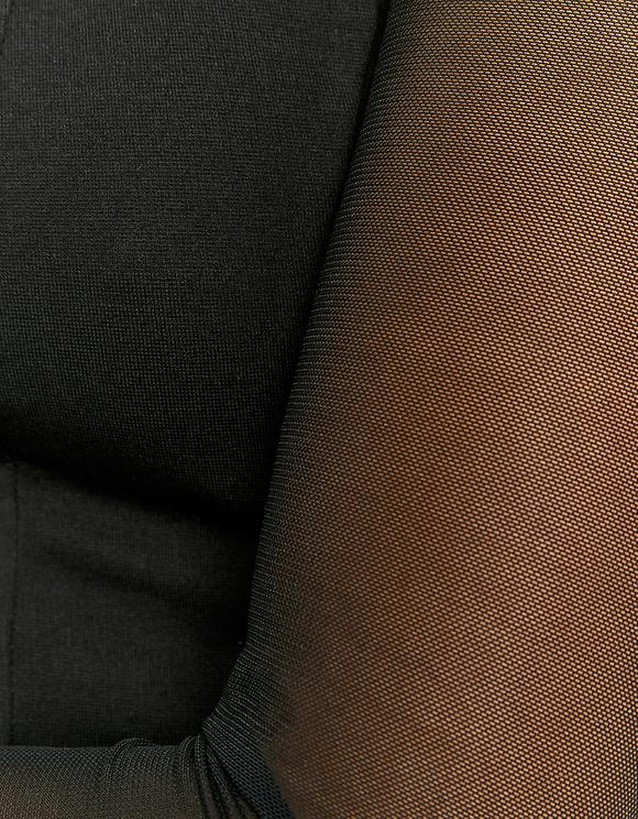 Black Top with Mesh Sleeves