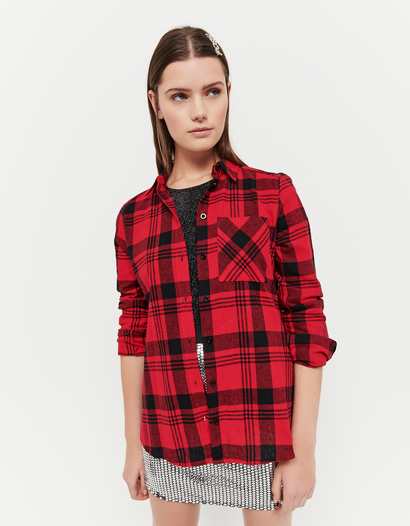 Red Check Flanelle Shirt