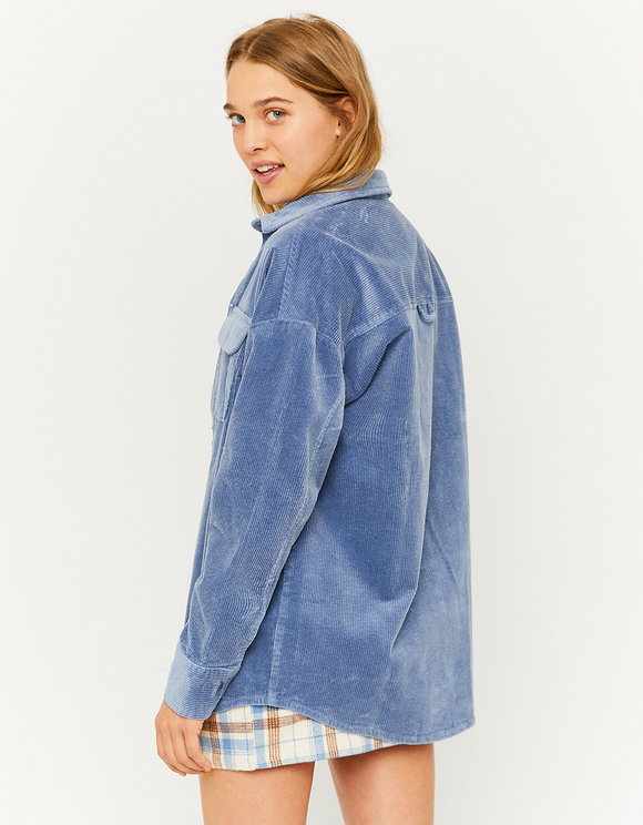 Blue Corduroy Shacket