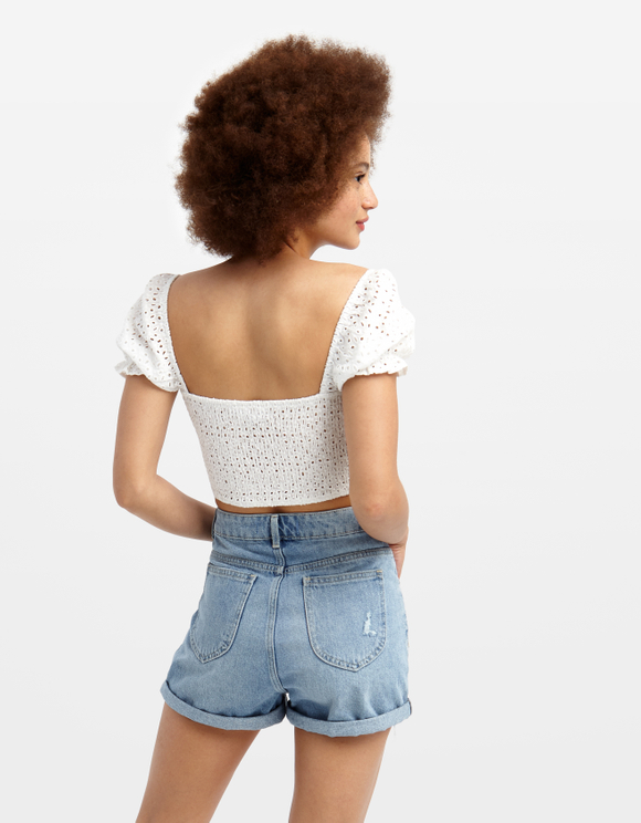 Crop Top Smocké