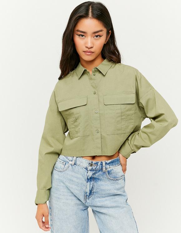 Chemise Boutonnée Verte