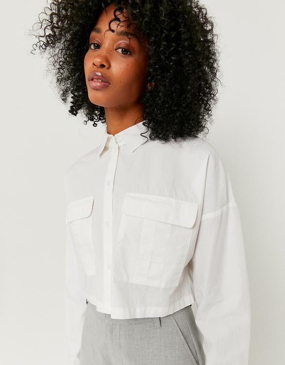 Weißes Button Down Hemd