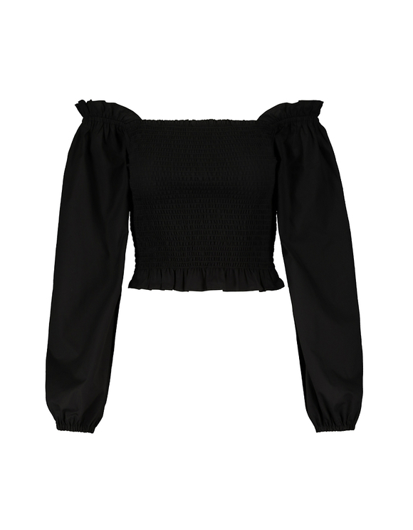 Black Cropped Blouse