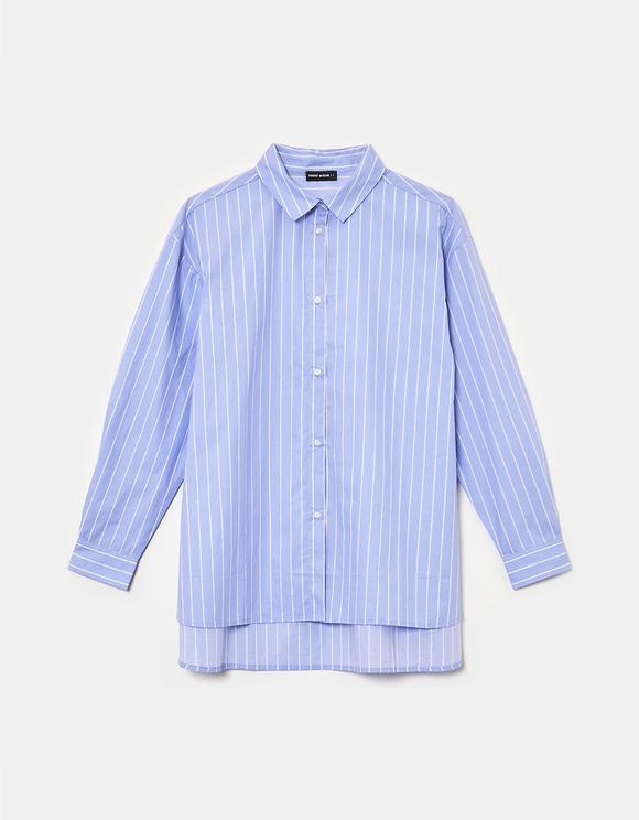 Chemise Basique Rayée Bleue