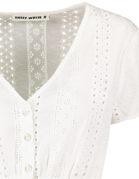 White English Embroidery Top