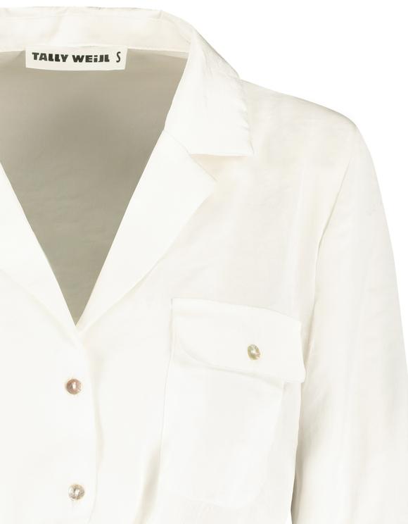 Satin White Shirt