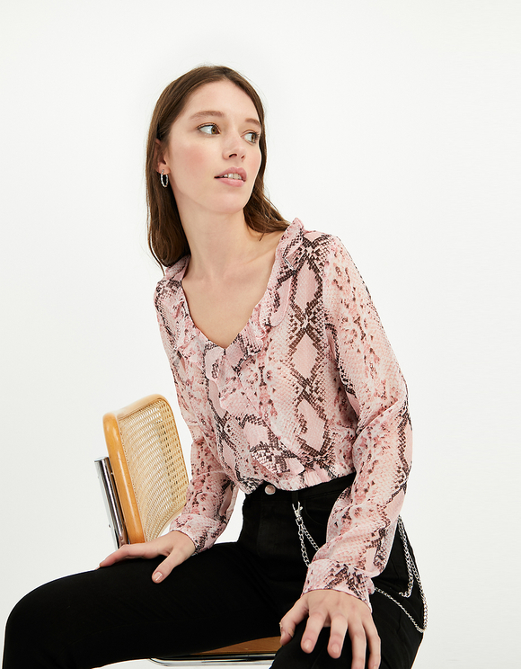 Blouse Rose Serpent