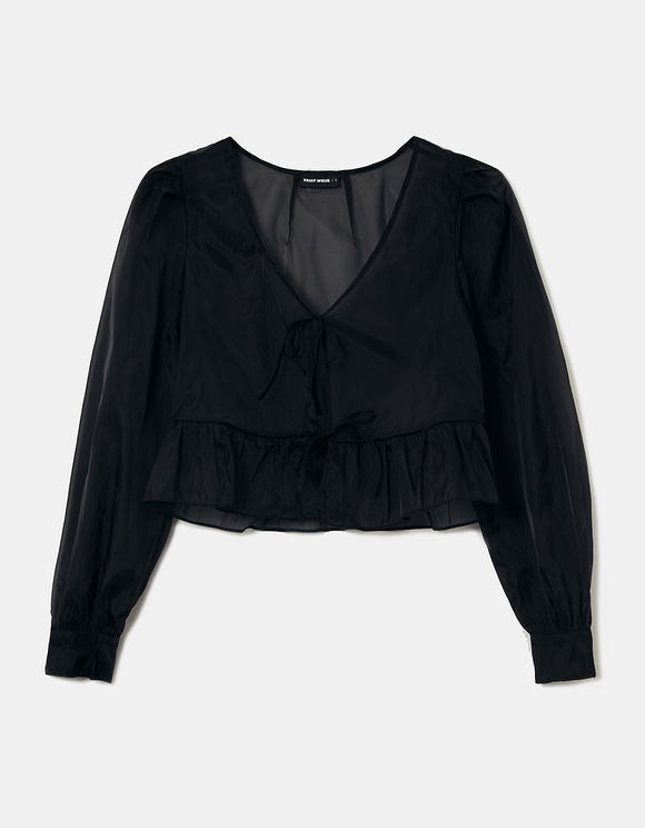 Black Blouse to Tie