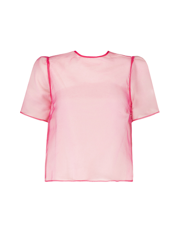 Pink Organza T-Shirt