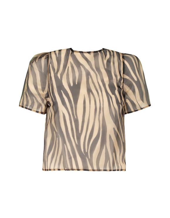 T-Shirt Imprimé en Organza