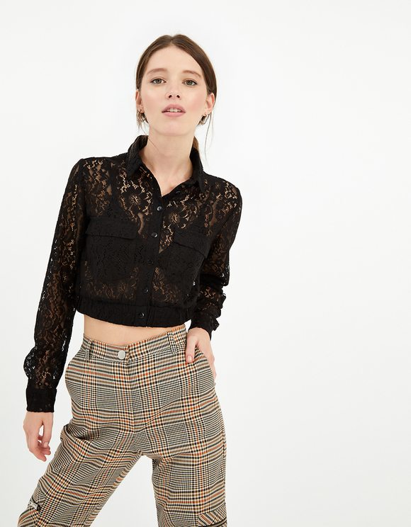 Transparent Lace Blouse
