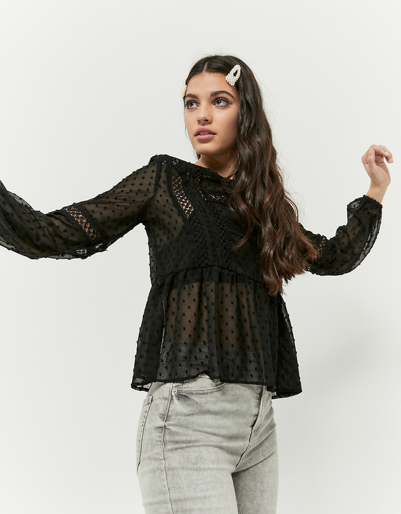 Black Boho Blouse