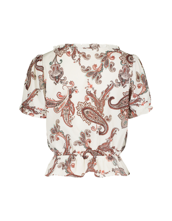 White Paisley Blouse