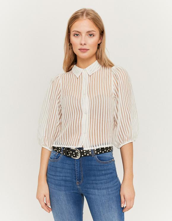 White Organza Shirt