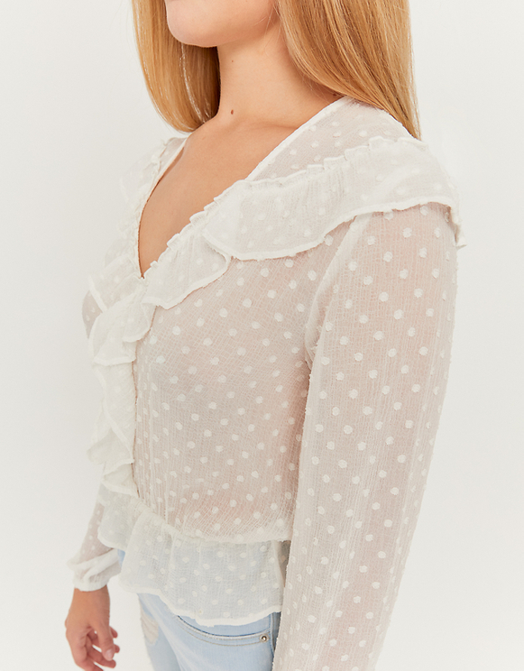 Weiße kurze Bluse