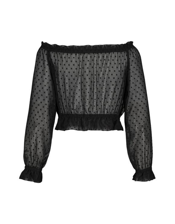 Black Cropped Blouse
