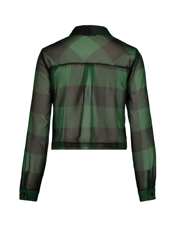 Green Transparent Cropped Shirt