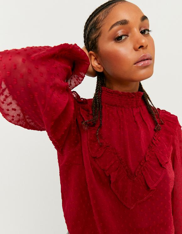 Camicia Rossa Romantica