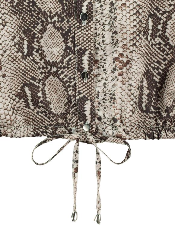 Kurze Bluse mit Schlangen-Muster