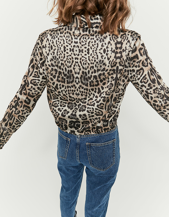 Printed Cropped Blouse