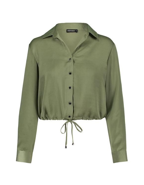 Green Satin Blouse