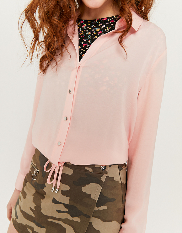 Pink Satin Blouse