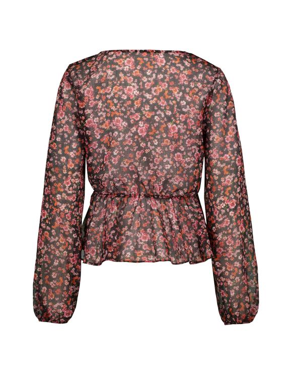 Transparente Bluse mit Blumen