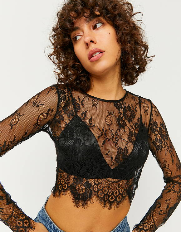 Transparent Blouse with Bralet
