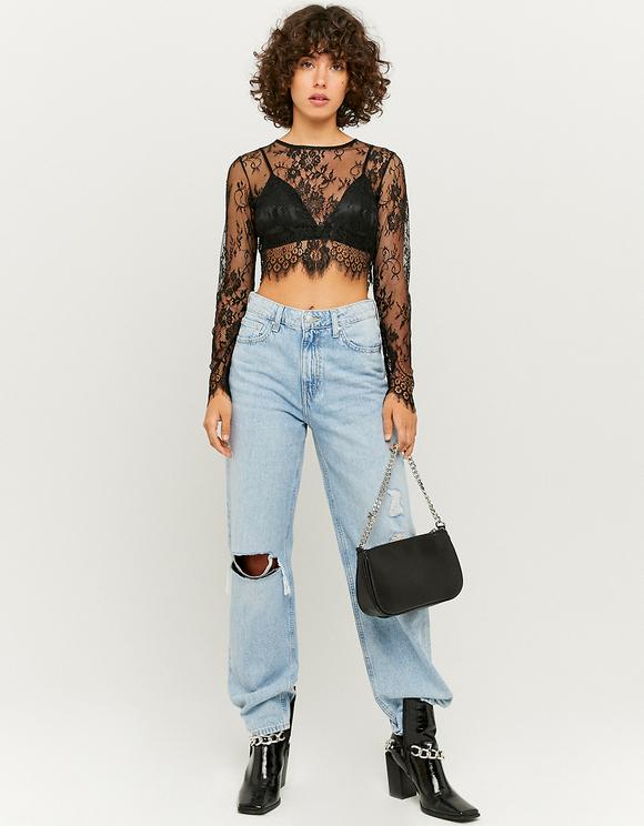 Transparente Bluse mit BH