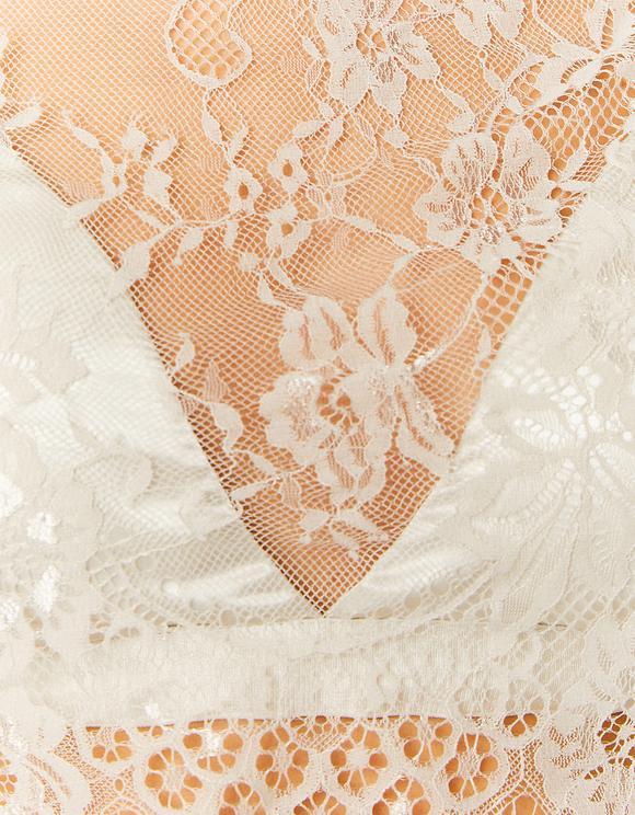 Blusa Trasparente con Bralette