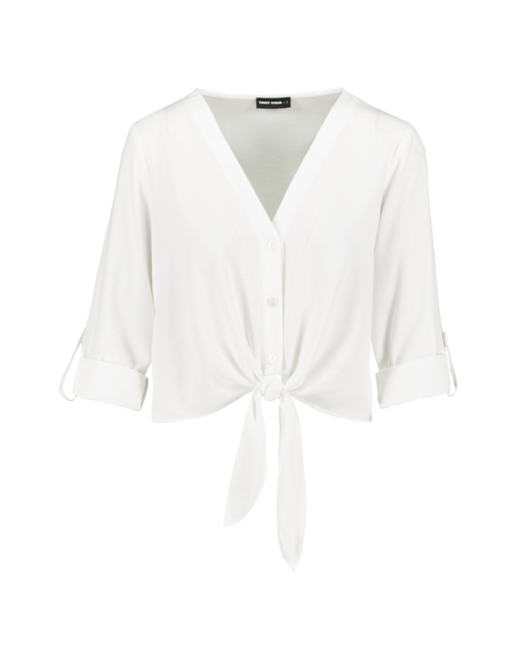White Blouse with Knot